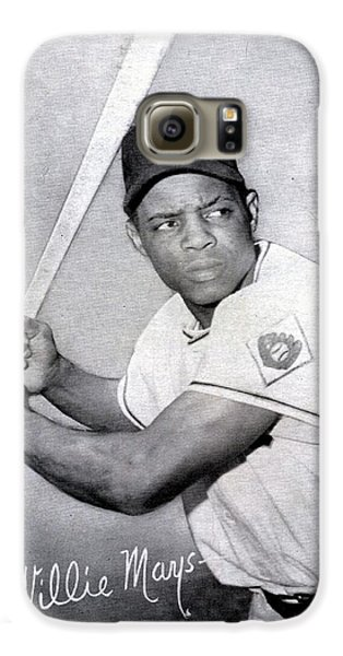 Willie Mays  Poster Galaxy S6 Case