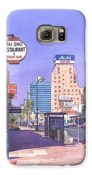 Wilshire Blvd At Mansfield Galaxy S6 Case by Mary Helmreich