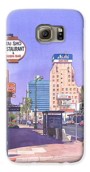 Beverly Hills Galaxy S6 Case - Wilshire Blvd At Mansfield by Mary Helmreich