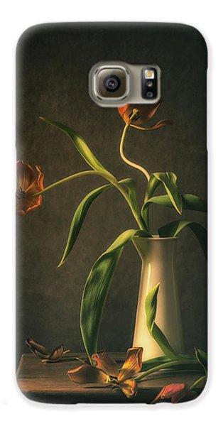 Tulip Galaxy S6 Case - Wilted Tulips by Monique Van Velzen