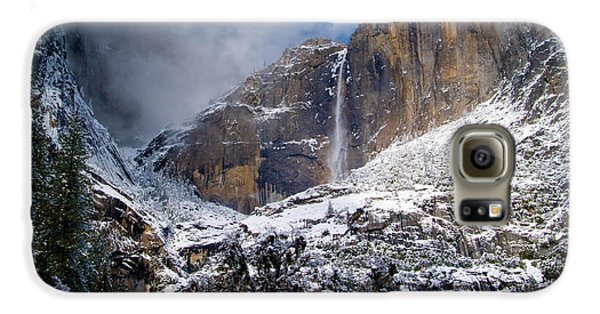 Winter At Yosemite Falls Galaxy S6 Case