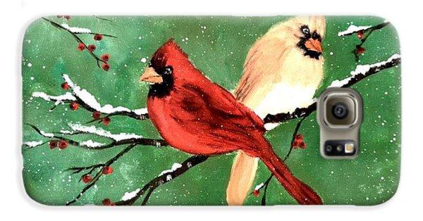 Winter Cardinals Galaxy S6 Case