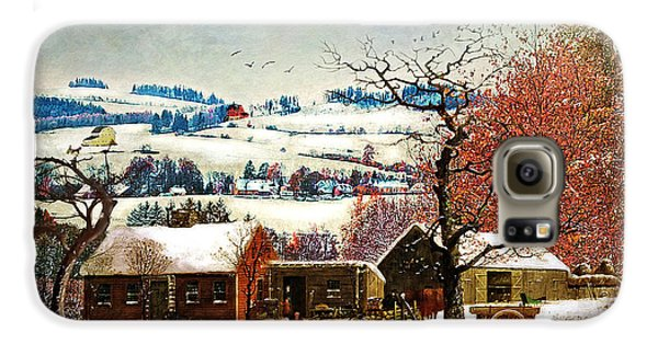 Winter In The Country Folk Art Galaxy S6 Case