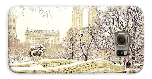 Winter - New York City - Central Park Galaxy S6 Case