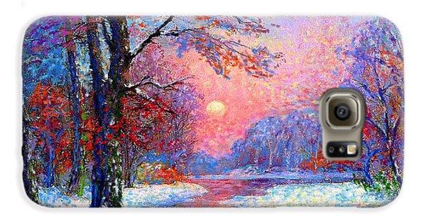 Impressionism Galaxy S6 Case - Winter Nightfall, Snow Scene  by Jane Small