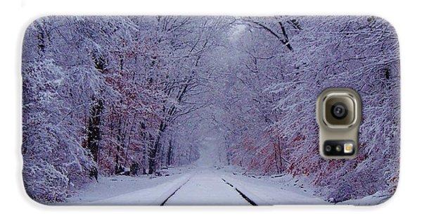 Train Galaxy S6 Case - Winter Rails by Greg Kear