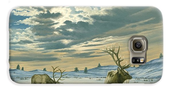Bull Galaxy S6 Case - Winter Sky-elk   by Paul Krapf
