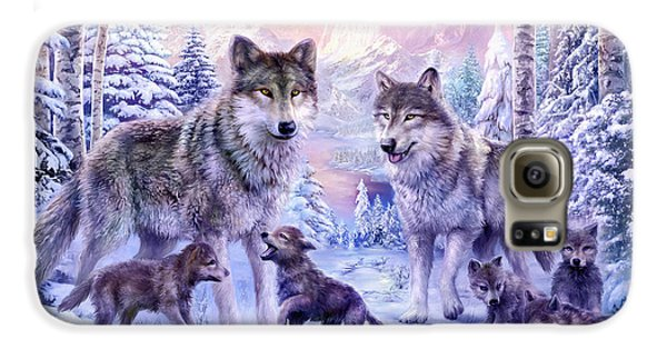 Winter Wolf Family  Galaxy S6 Case