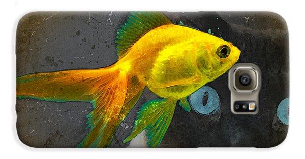 Goldfish Galaxy S6 Case - Wishful Thinking - Cat And Fish Art By Sharon Cummings by Sharon Cummings