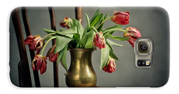 Tulip Galaxy S6 Case - Withered Tulips by Nailia Schwarz