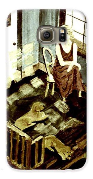 Woman In The Window Galaxy S6 Case