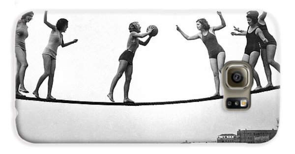 Women Play Beach Basketball Galaxy S6 Case by Underwood Archives