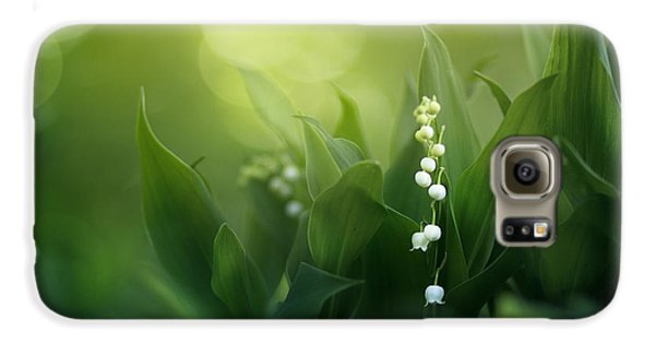 Lily Galaxy S6 Case - Wonders Of Spring Forest by Magda  Bognar