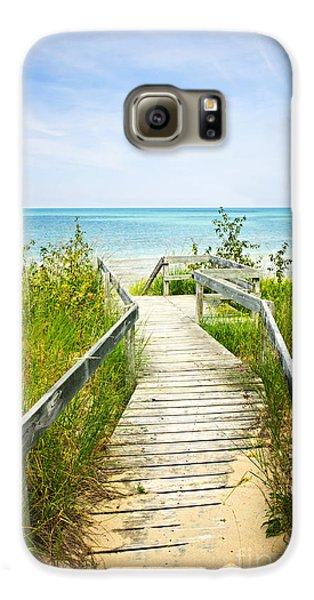 Wooden Walkway Over Dunes At Beach Galaxy S6 Case