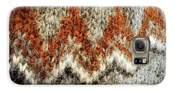 Detail Galaxy S6 Case - Woolen Jersey Detail Grey And Orange by Matthias Hauser