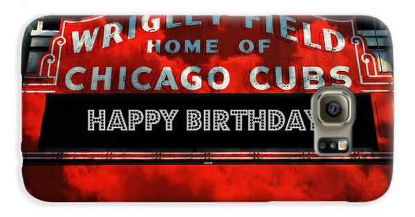 Wrigley Field Galaxy S6 Case - Wrigley Field -- Happy Birthday by Stephen Stookey