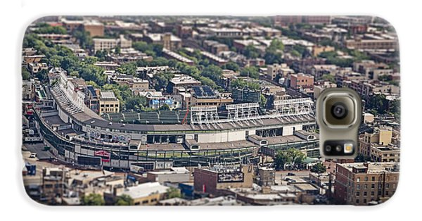 Wrigley Field Galaxy S6 Case - Wrigley Field - Home Of The Chicago Cubs by Adam Romanowicz