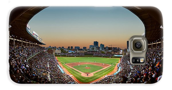Wrigley Field Galaxy S6 Case - Wrigley Field Night Game Chicago by Steve Gadomski