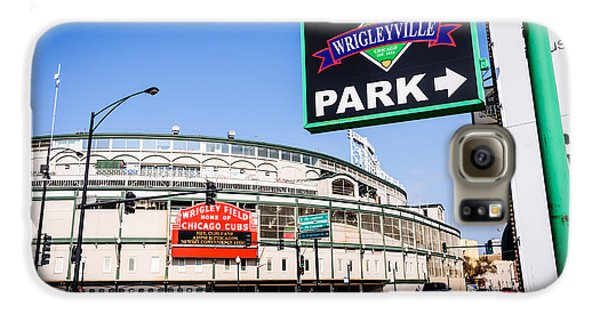 Wrigleyville Sign And Wrigley Field In Chicago Galaxy S6 Case by Paul Velgos
