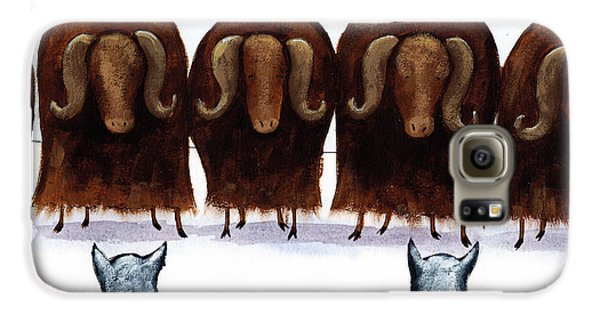 Yak Galaxy S6 Case - Yak Line by Christy Beckwith