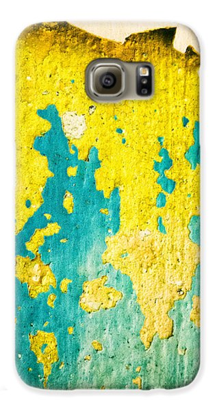 Galaxy S6 Case featuring the photograph Yellow And Green Abstract Wall by Silvia Ganora
