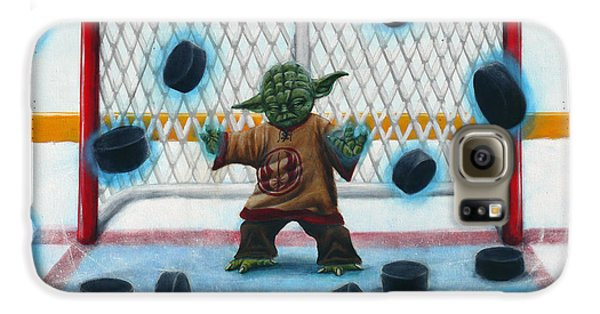 Hockey Galaxy S6 Case - Yoda Saves Everything by Marlon Huynh