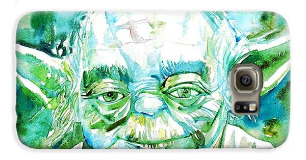 Yoda Watercolor Portrait Galaxy S6 Case
