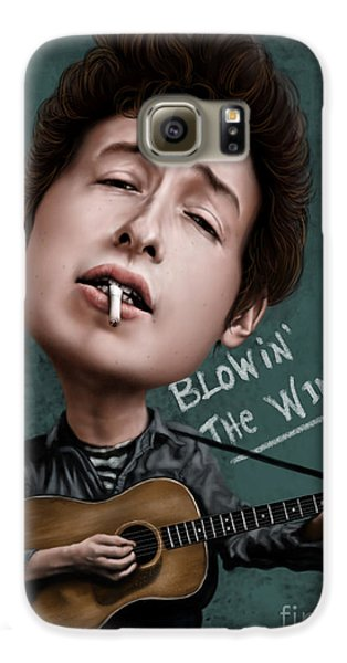 Young Bob Dylan Galaxy S6 Case by Andre Koekemoer
