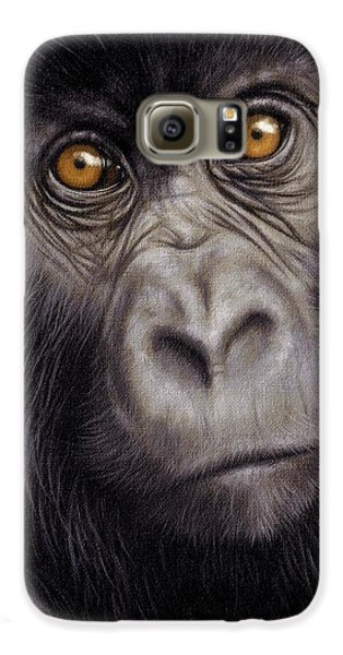 Gorilla Galaxy S6 Case - Young Gorilla Painting by Rachel Stribbling
