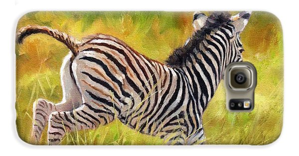 Young Zebra Galaxy S6 Case by David Stribbling