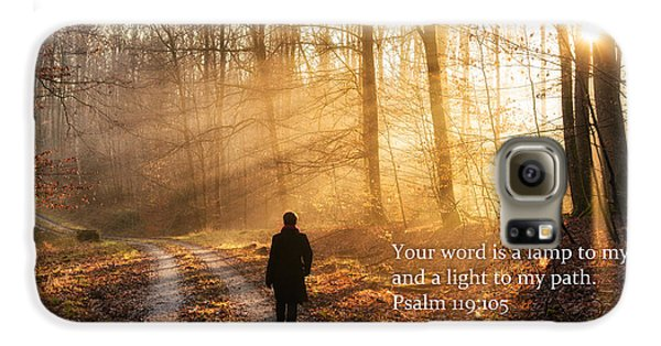 Your Word Is A Light To My Path Bible Verse Quote Galaxy S6 Case by Matthias Hauser