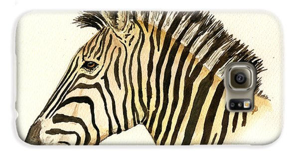 Zebra Head Study Galaxy S6 Case by Juan  Bosco
