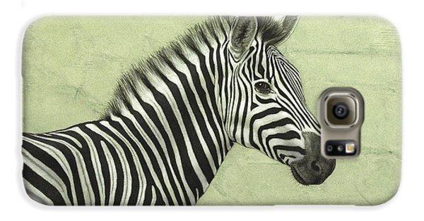 Zebra Galaxy S6 Case by James W Johnson