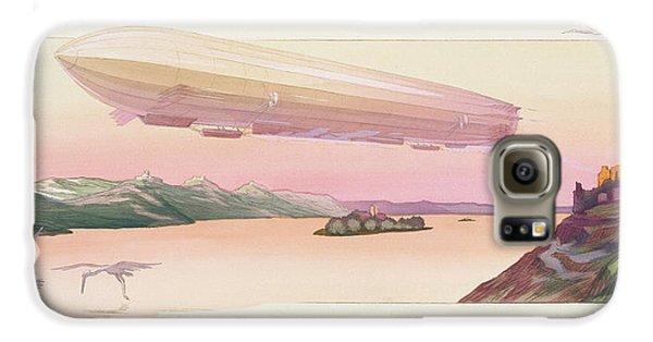 Zeppelin, Published Paris, 1914 Galaxy S6 Case by Ernest Montaut