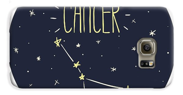 Outer Space Galaxy S6 Case - Zodiac Signs Doodle Set - Cancer by Radiocat