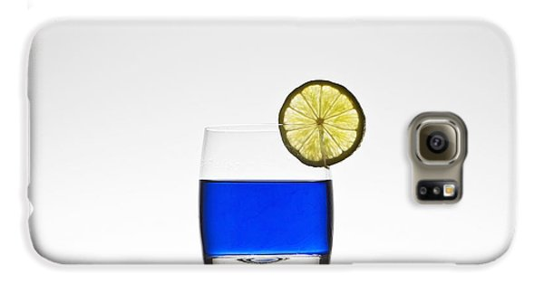 Blue Cocktail With Lemon Galaxy S6 Case