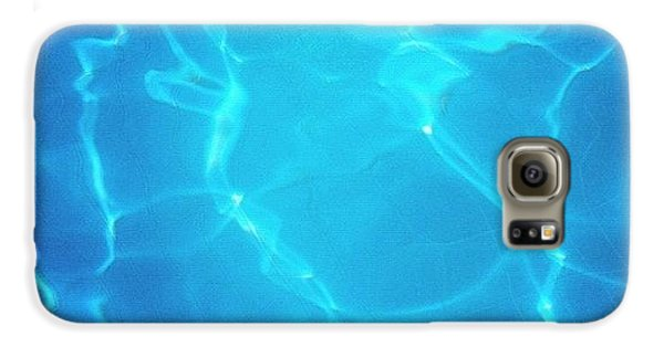 Blue Galaxy S6 Case - Blue Water Surface - Swimming Pool by Matthias Hauser