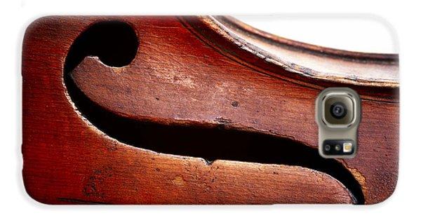 Violin Galaxy S6 Case - G Clef by Michal Boubin