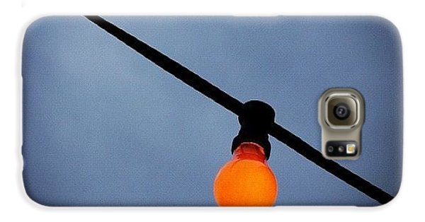 Cool Galaxy S6 Case - Orange Light Bulb by Matthias Hauser