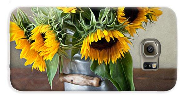Sunflower Galaxy S6 Case - Sunflowers by Nailia Schwarz