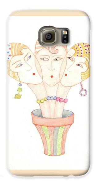 Flower Pot Ladies Galaxy S6 Case by Nareeta Martin
