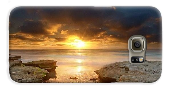 Long Exposure Sunset In North San Diego Galaxy S6 Case by Larry Marshall