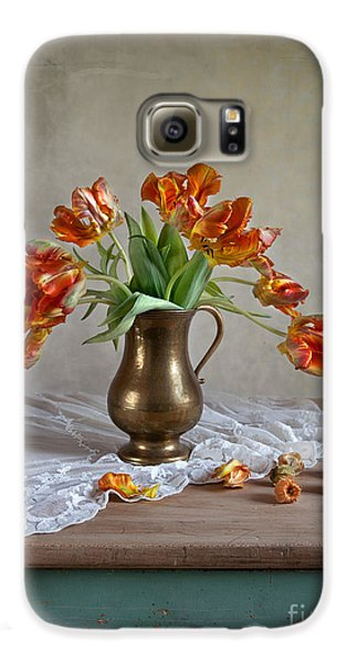 Tulip Galaxy S6 Case - Still Life With Tulips by Nailia Schwarz