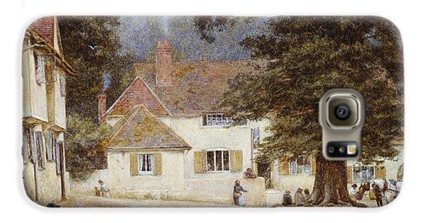 A Cart By A Village Inn Galaxy S6 Case by Helen Allingham