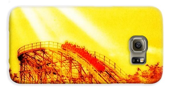 #amazing Shot Of A #rollercoaster At Galaxy S6 Case