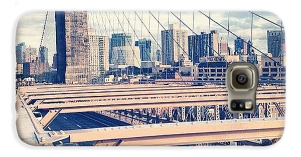 Summer Galaxy S6 Case - Another Day On Brooklyn Bridge by Randy Lemoine