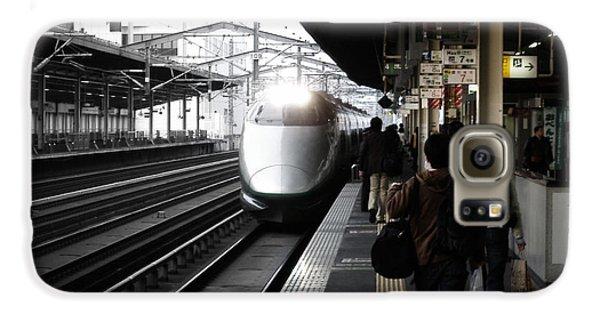 Train Galaxy S6 Case - Arriving Train by Naxart Studio