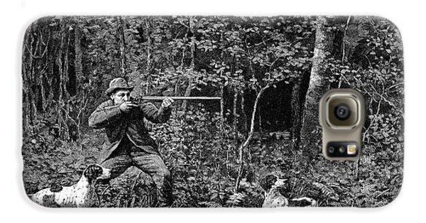 Woodcock Galaxy S6 Case - Bird Shooting, 1886 by Granger