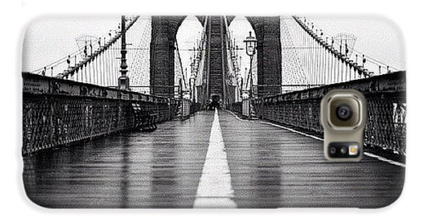 Blue Galaxy S6 Case - Brooklyn Bridge by Randy Lemoine