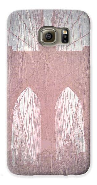 Brooklyn Bridge Galaxy S6 Case - Brooklyn Bridge Red by Naxart Studio